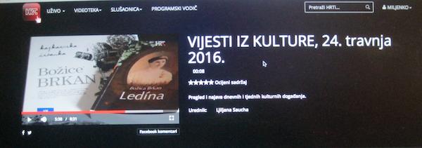 f Ledina u Vijestima iz kulture 600 24.4.2016.