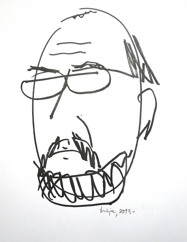 Miljenko Brezak: Karikaturni autoportret za Facebook iz 2013.