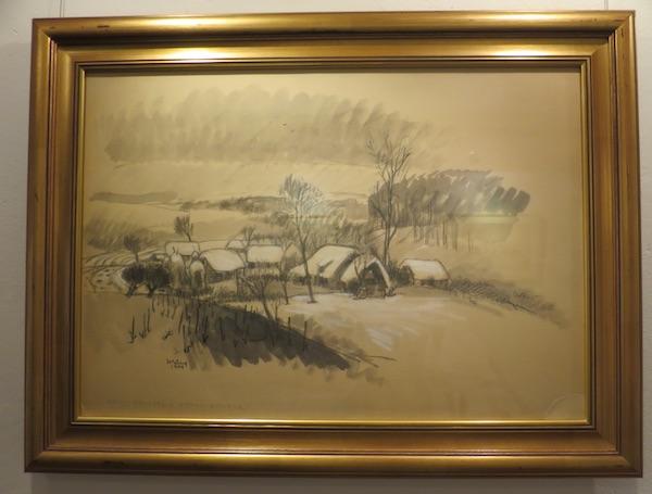 Hegedušićevo Seosko imanje, 1949., lavirani akvarel