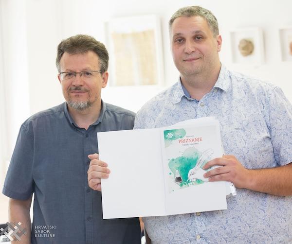 Njih dvojica pjesnika: ivan Babić i Tibor Martan / Fotografija Hrvatski sabor kulture