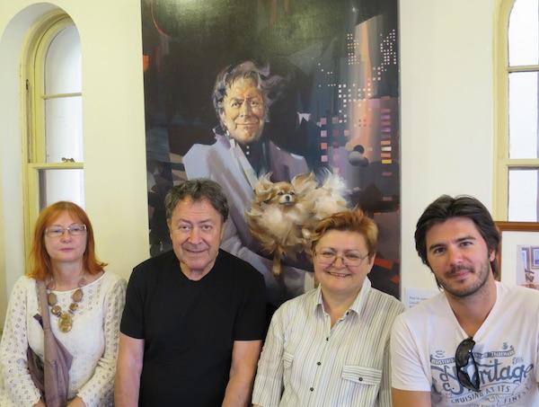 Književnici kod slikara: Željka Lovrenčić, Charles Billich, Božica Brkan i Marko Gregur