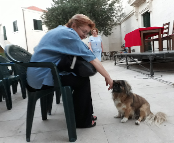 S Čarlijem na opuzenskoj Poljanici Mate Pečića, uoči recitala Pod vedrim nebom, a Maslini u lice / Fotografija Miljenko Brezak