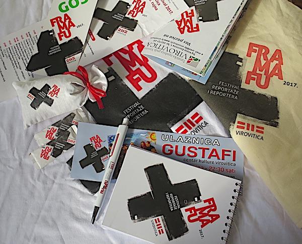 Grafička rješenja Davora Šunka za Fra Ma Fu festival / Fotografija Božica Brkan