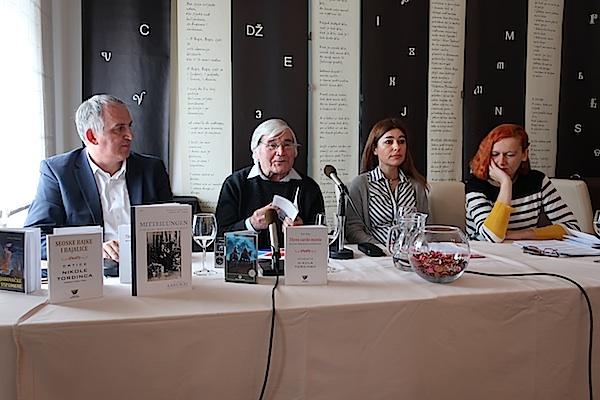 S predstavljanja slijeva nadesno: Mirko Ćurić, Josip Palada, Dunja Sepčić i Lada Žigo Španić / Fotografija Miljenko Brezak