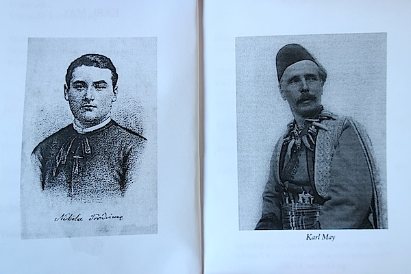 Iz knjige: lijevo Nikola Tordinac, a desno karl May