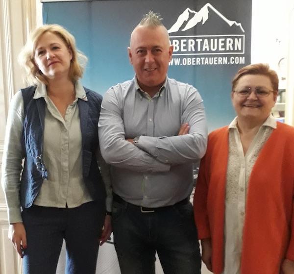 Nas troje red Obertauernom: Sandra Piro, Slobodan kadić i Božica Brkan
