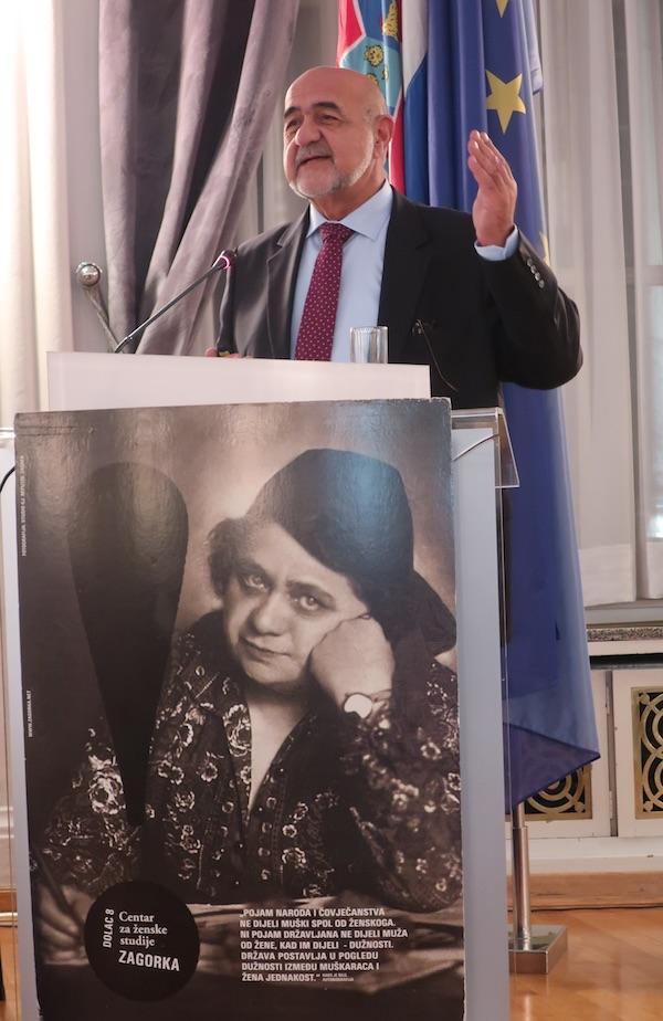 Vladimir Matek o Zagorki je govorio kao o prvoj hrvatskoj novinrki (Fotografija Miljenko Brezak)
