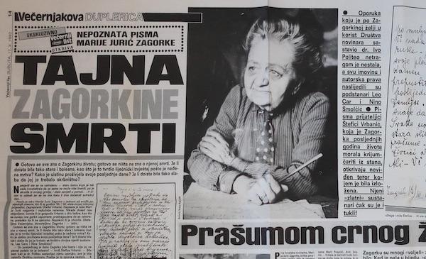 Na duplerici novina do danas: tekst Diane Kučinić u Večernjaku 1992.