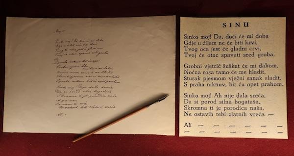 Jedan od izloženih rukopisa / Fotografija Miljenko Brezak