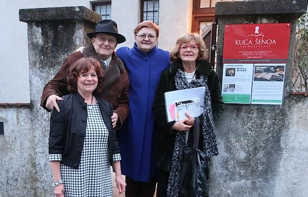 Red Kućom Šenoa: Jasmina Reis, Đuro Vidmarović, Božica Brkan i Biserka Ipša / Fotografija Miljenko Brezak