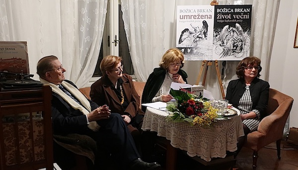 S književne večeri Đuro Vidmarović, Božica Brkan, Biserka Ipša i Jasmina Reis / Fotografija Miljenko Brezak