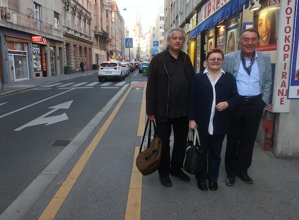 Susret u Petrinjskoj: Boris Domagoj Biletić, Božica Brkan i Milan Rakovac / Fotografija Miljenko Brezak