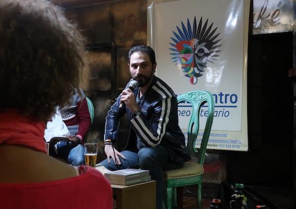 Eduardo Bechara Navratilova govori svoju poeziju / Fotografija Božica Brkan