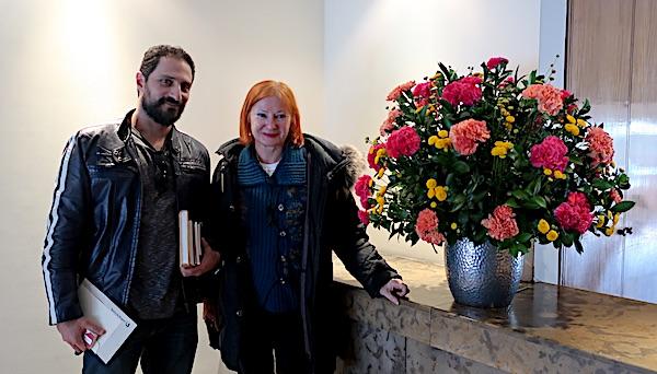 Eduardo Bechara Navratilova s prevoditeljicom Željkom Lovrenčić / Fotografija Božica Brkan