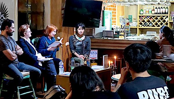 S predstavljanja knjige Encuentros u Bogoti: Željka Lovrenčić s Eduardom Bechara Navratilova, Božicom Brkan i ???