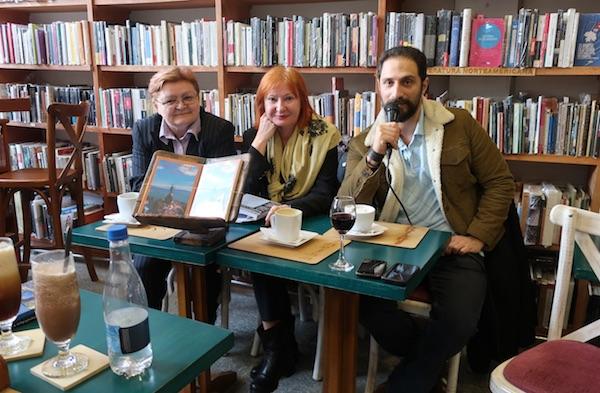 S jednoga od kolumbijskih predstavljanja izbora 12 hrvatskih pjesnika na španjolskom: Božica Brkan, Željka Lovrenčić i Eduardo Bechara Navratilova