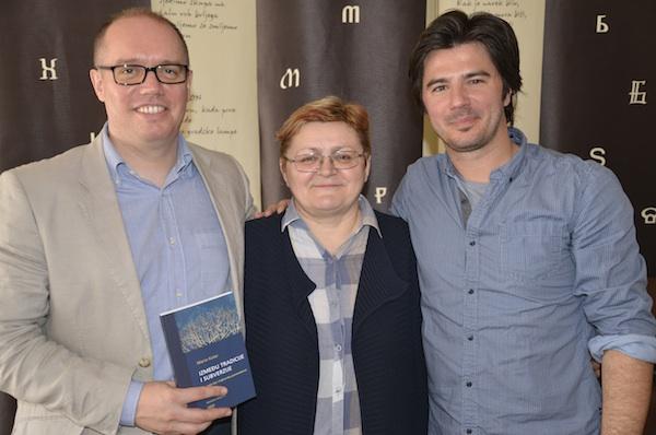 S neke od promocija u Društvu hrvatskih književnika: Mario Kolar, Božica Brkan i Marko Gregur