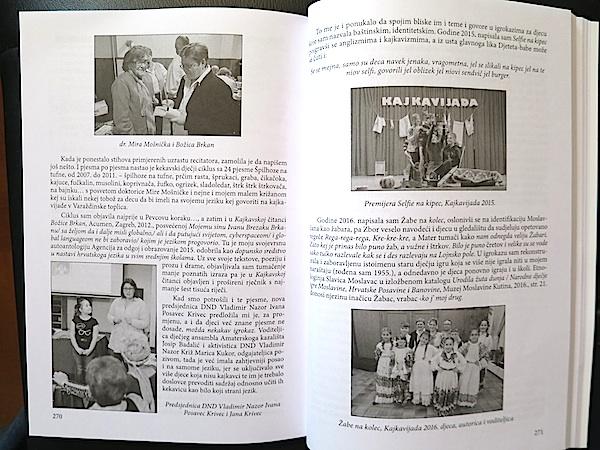 Jedna od duplerica sa zaaisom i fotografijama s dječjih predstava