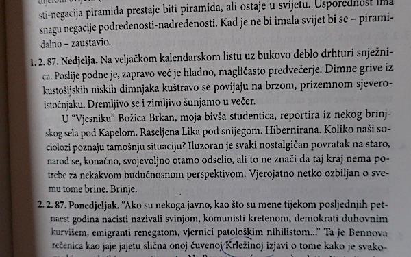 Eh, da sam zeal da profesor Malić čita motu reportažu iz okolice Karakaševa Brinja!