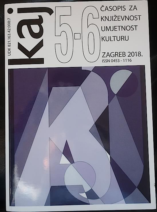 Naslovnica časopisa Kaj, broj 5.-6. iz 2018.