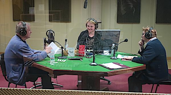 Razgovor u emisiji Kajkavijana: ivica Ivanković, Ana Lacković Varga i Božica Brkan (Fotografija Miljenko Bezak)