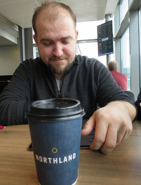 Oslo: Ivan Brezak Brkan i Northlang to go (Fotografija Božica Brkan)