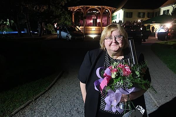Marija Lamot, lauretkinja 2. Festivala Vesne Parun (Fotografija Miljenko Brezak)