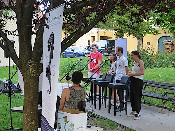 Mladi samoborski glazbenici nadahnuti Ljubicom komponirali su stihoe Nikole Kristića (Fotografija Božica Brkan)