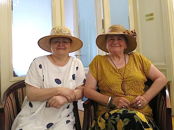 Božica Brkan i Božica Jelušić u DHK za posljednje Skupštine (Fotografija Maja Kolman Maksimiljanović)