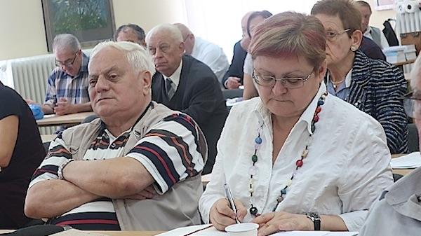 Željko bajza i Božica Brkan na prošlogodišnjemu znanastvenom skupi o kajkavskom jeziku (Fotografija Miljenko Brezak)