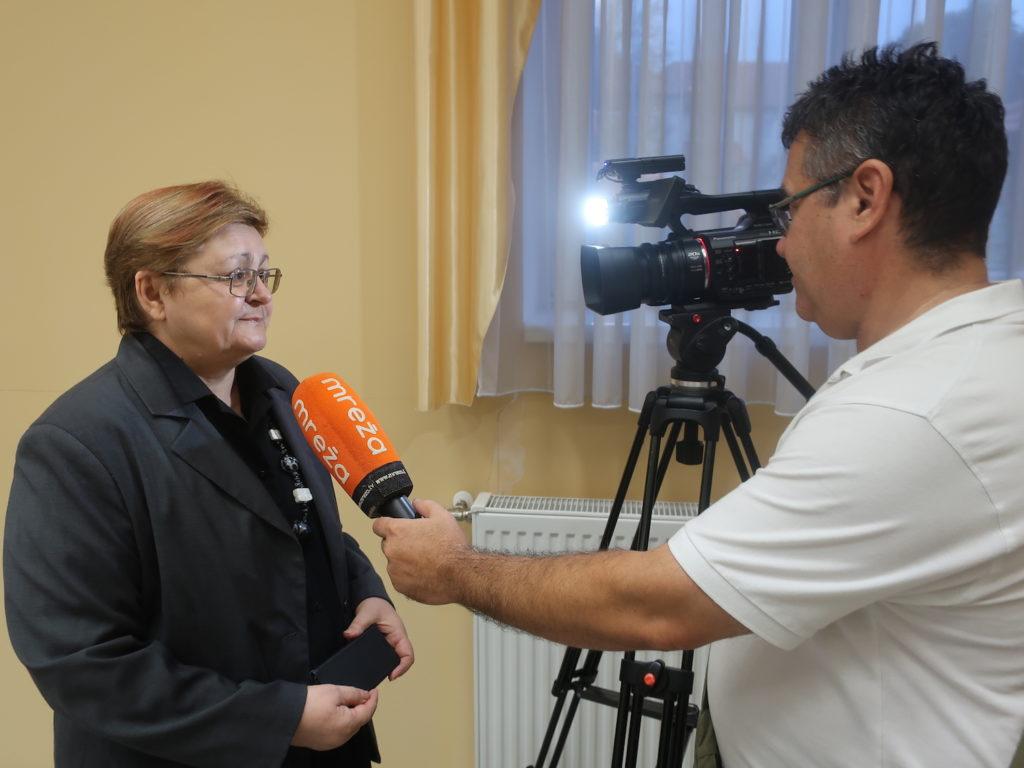 Božica Brkandaje izjavu za Zagorsku TV / Fotografija Miljenko Brezak