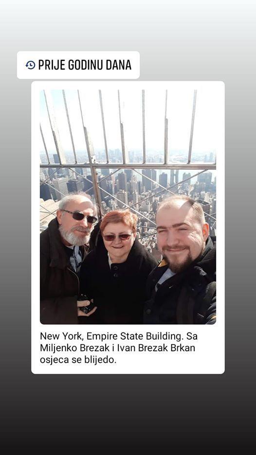 S Facebooka 11. ožujka 2020. - selfie-pozdrav s Empirea State Buildinga i New Yorka fosinu dana prije